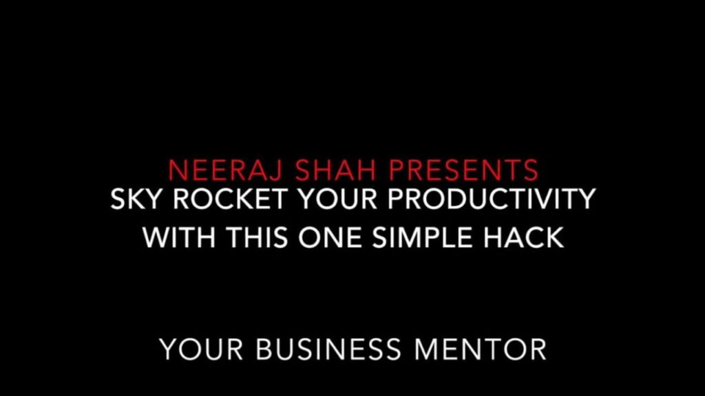 [VIDEO] 9011 Productivity Hack