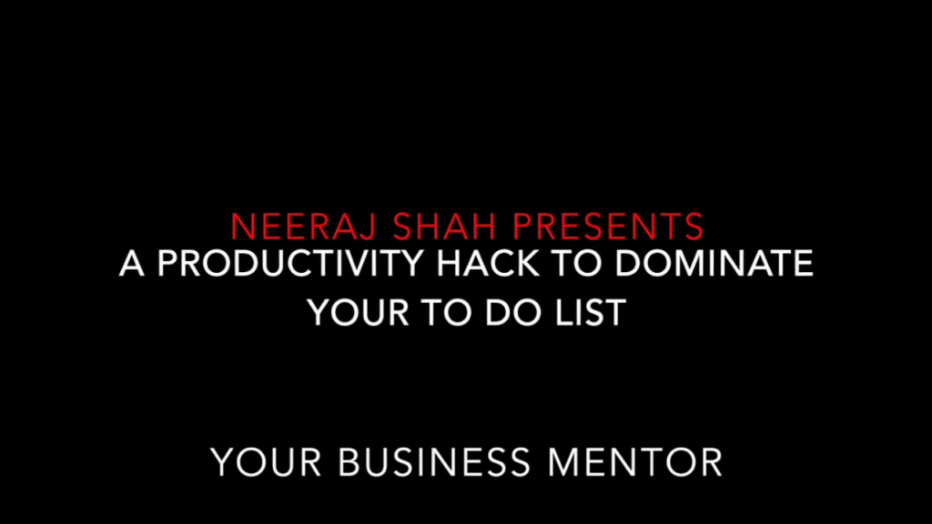 [VIDEO] Take charge of your TO DO List